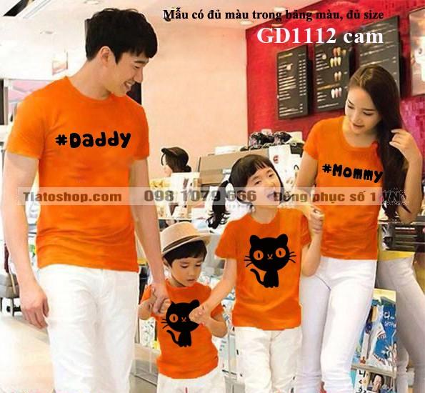 Đồng phục áo gia đình trẻ trung