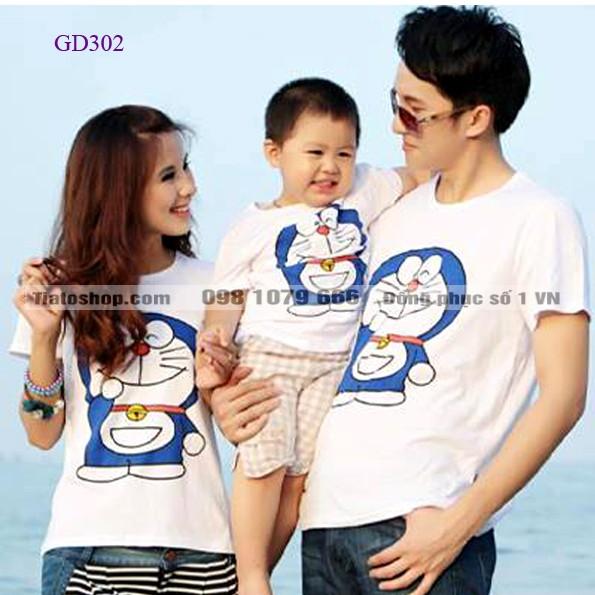 Áo gia đình màu trắng giá rẻ