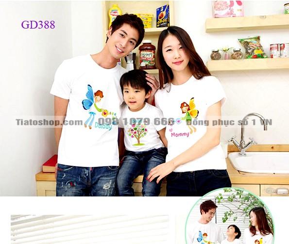 Mẫu áo gia đình 2014