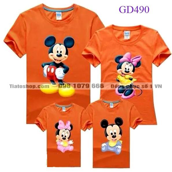 Áo gia đình màu cam