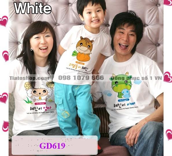 Áo gia đình kiểu Hàn Quốc