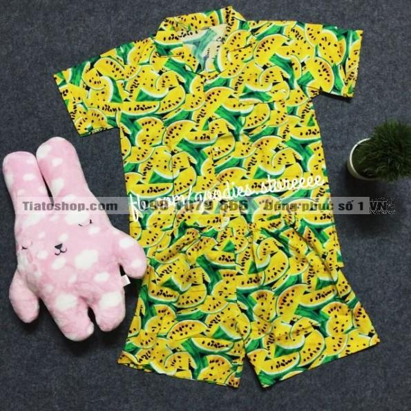 Quần áo hoa quả dưa hấu vàng