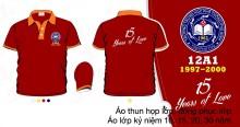 Mẫu áo kỷ niệm ra trường màu đỏ
