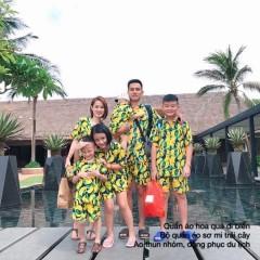 Đồng phục đi biển hoa quả cho gia đình