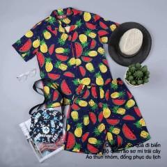 Quần áo hoa quả đi biển giá rẻ tại hn