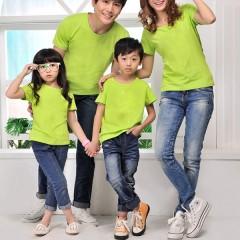 Áo thun trơn cotton 4 chiều mầu xanh cốm