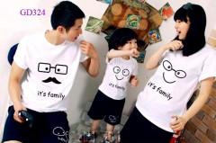 Áo gia đình mầu trắng