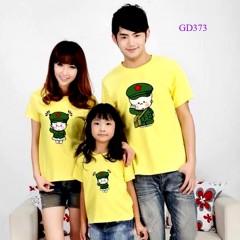 Áo gia đình mầu vàng, áo nhóm