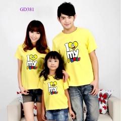 Bộ áo gia đình mầu vàng -GD381