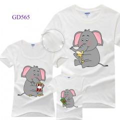 Áo gia đình in hình con voi