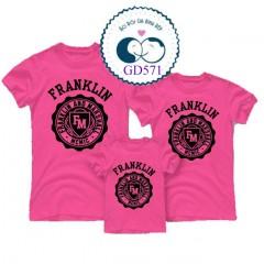 Mẫu áo gia đình in Franklin