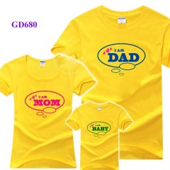 Set áo gia đình mầu vàng nổi bật
