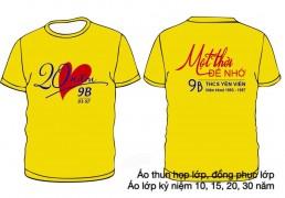 Áo kỷ niệm 20 năm ra trường màu vàng