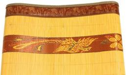 Chiếu trúc tăm Rồng cao cấp - Chiếu trúc cây thêu vàng 2 mặt