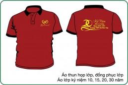 Áo kỷ niệm thành lập trường màu đỏ