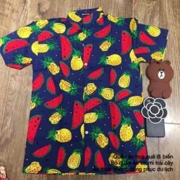 Mẫu áo sơ mi trái cây đi du lịch