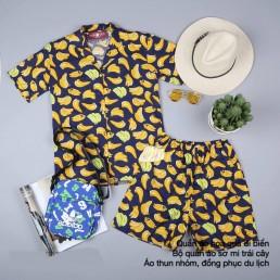 Áo sơ mi trái cây, bộ quần áo quả chuối