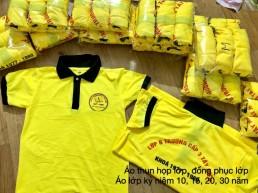 Đồng phục họp lớp màu vàng có cổ