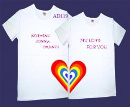 Áo phông đôi trái tim