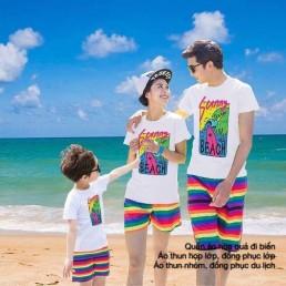Quần áo màu sắc đi biển