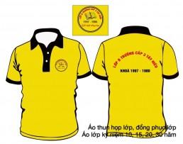Áo đồng phục ra trường có cổ màu vàng