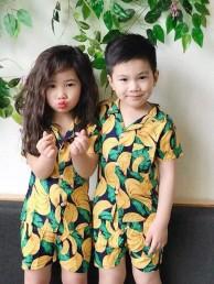 quần áo trái cây cho bé