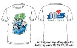 Áo kỷ niệm 10 năm ra trường màu trắng