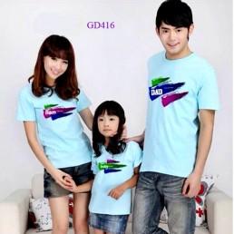 Bộ áo gia đình xanh ngọc bích
