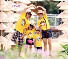 Đồng phục gia đình vàng cực nổi