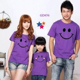 Mẫu áo gia đình màu tím