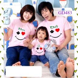 Mẫu áo gia đình mùa hè