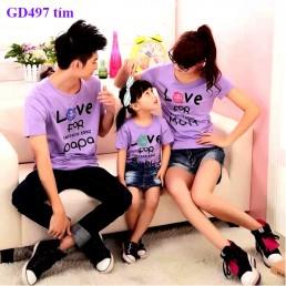 Đồng phục áo gia đình ngộ nghĩnh tại Hà Nội