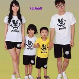 Bộ đồng phục áo gia đình - Mouse