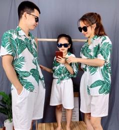 Áo đồng phục gia đình đi biển