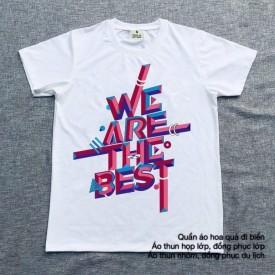 Mẫu áo thun nhóm we are the best
