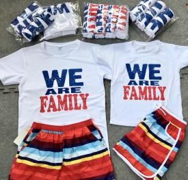 Mẫu áo đồng phục đại gia đình we are family