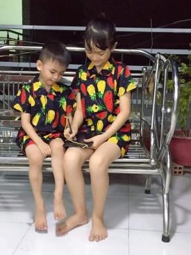 Bộ đồ hoa quả cho bé
