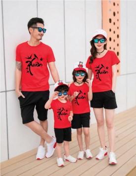 Áo gia đình màu đỏ