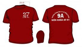 Mẫu áo đồng phục họp lớp màu đỏ