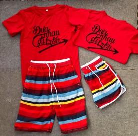 Mẫu áo nhóm màu đỏ