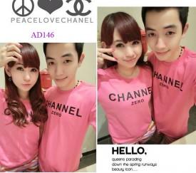 Áo đôi màu hồng sen