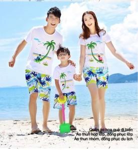 Đồng phục du lịch mùa hè cho nhóm, gia đình