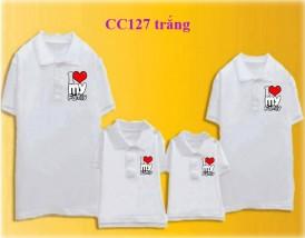 Đồng phục áo gia đình có cổ 2016-2017