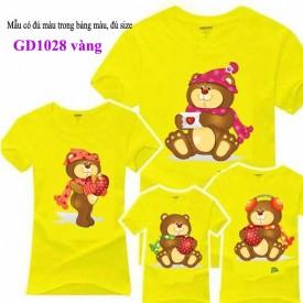 Đồng phục gia đình nhà gấu mầu vàng