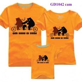 Áo gia đình nhà Gấu đạp xe