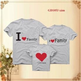Đồng phục gia đình I Love Family