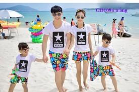 Mẫu áo gia đình 2017
