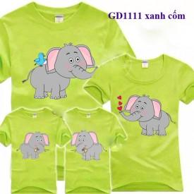 Áo gia đình ngộ nghĩnh-Con voi